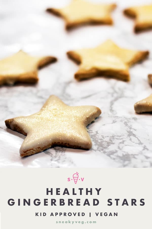 healthy gingerbread stars on white background