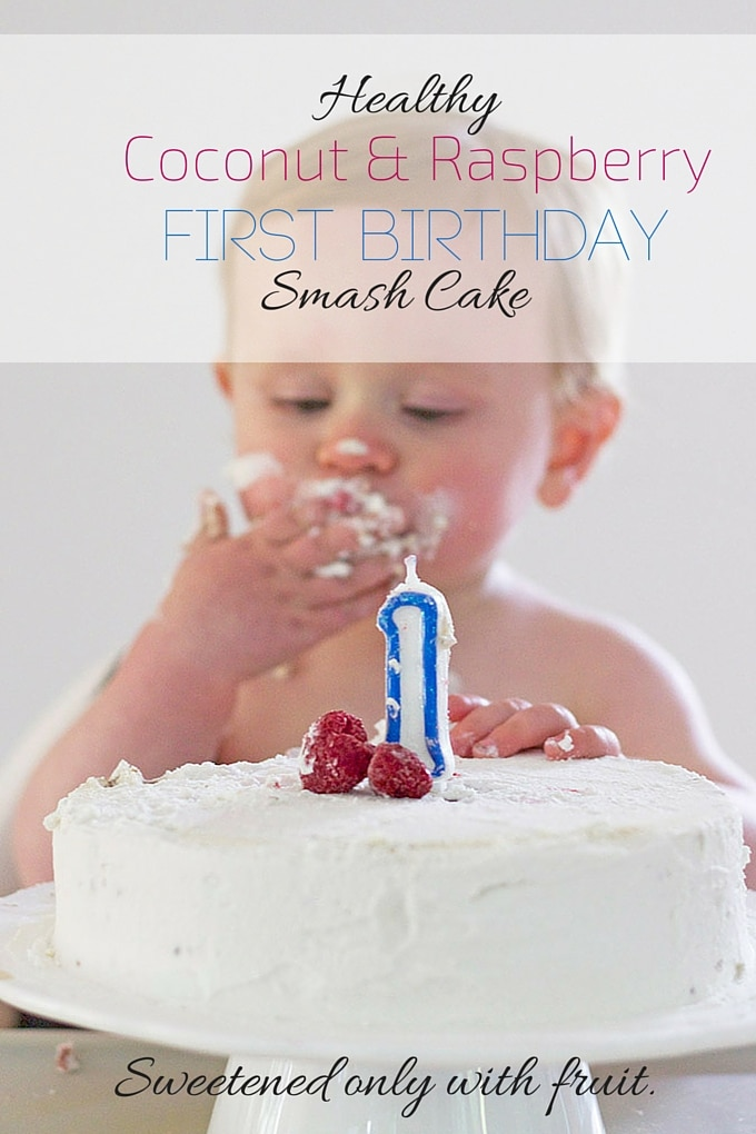 healthy first birthday cake - healthy kids party food