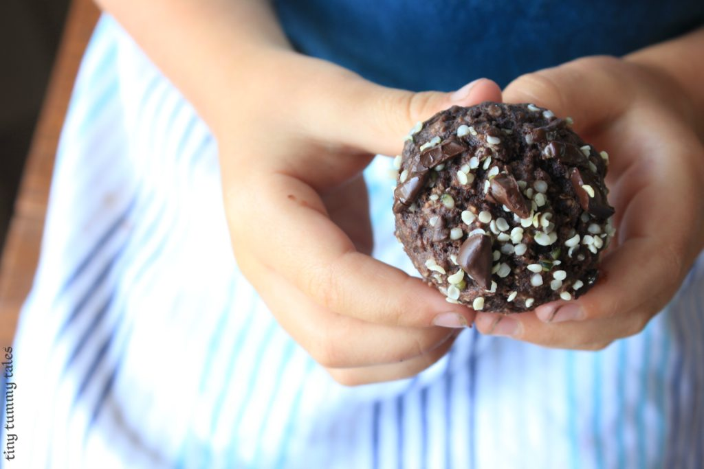 chocolate cherry muffins - healthy kids party food