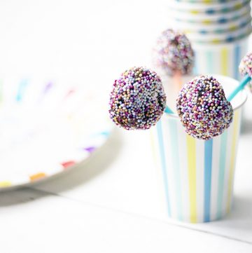 healthy cake pops in cup
