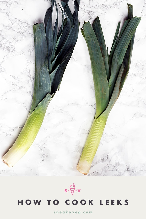 leeks on white background