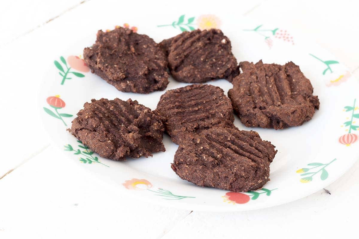 vegan chocolate beetroot black bean cookies by Sneaky Veg