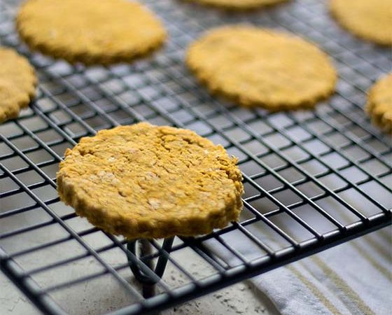 Three ingredient butternut squash cheesy oat cakes