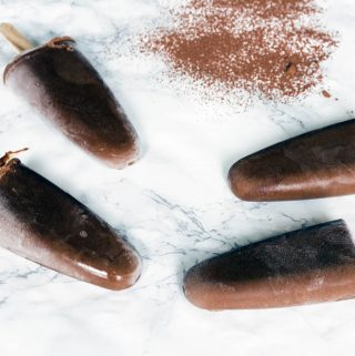 healthy chocolate orange ice lollies
