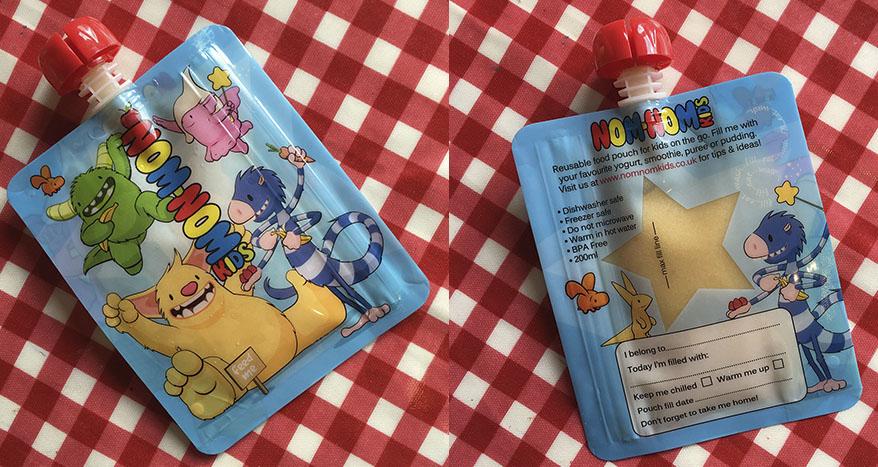 Nom Nom Kids reusable pouches