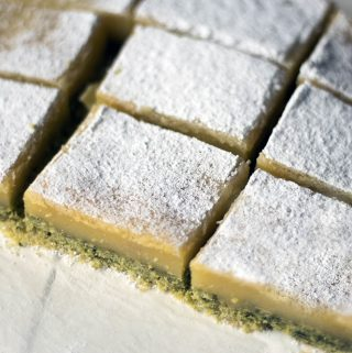 Lemon and spinach bars recipe and Veggie Desserts book review