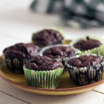 Courgette or zucchini chocolate muffins