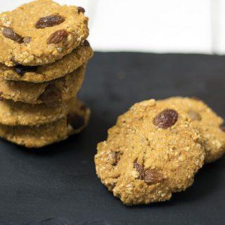 Sweet potato and orange oaty cookies