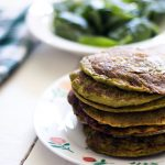 Sweet potato pancakes with spinach and ricotta