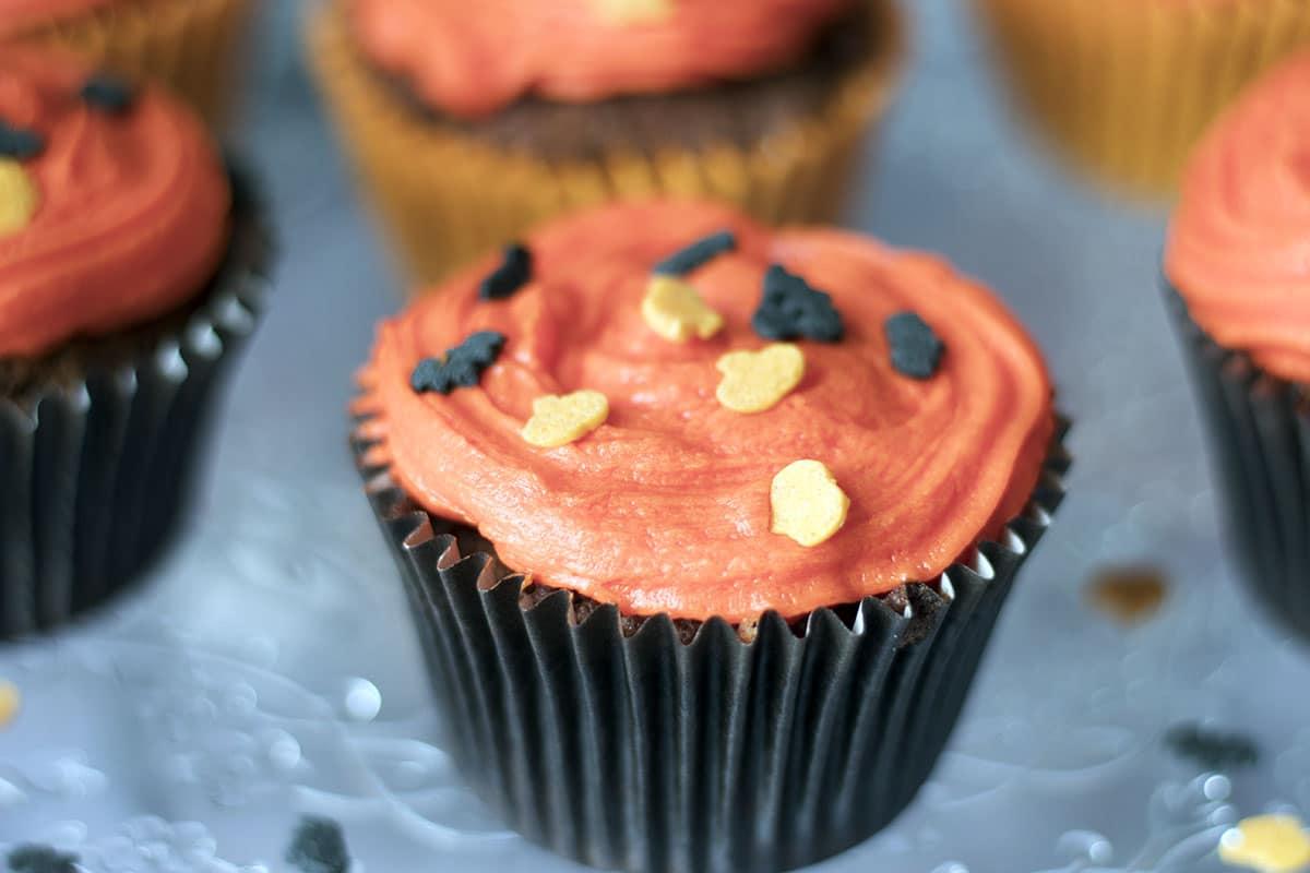 Easy Halloween chocolate cupcake recipe