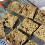 healthy gingerbread chickpea blondies
