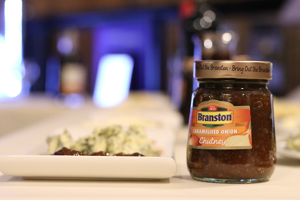 Branston Caramelised Onion Chutney with stilton cheese