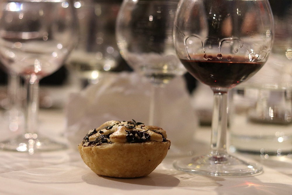A Branston cheese and pickle mince pie as created by Lily Vanilli