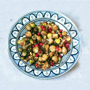 sprouts and jerusalem artichokes in bowl