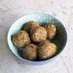 Fig and apple raw energy balls