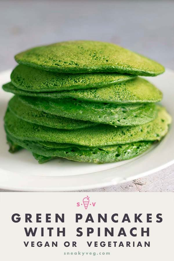 green pancakes on white plate
