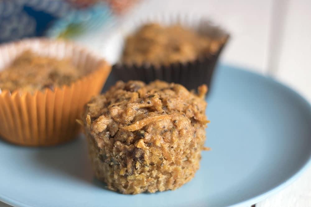 Healthy carrot muffins recipe - vegan