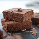 Vegan double choc cherry brownies