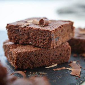 double choc cherry brownies