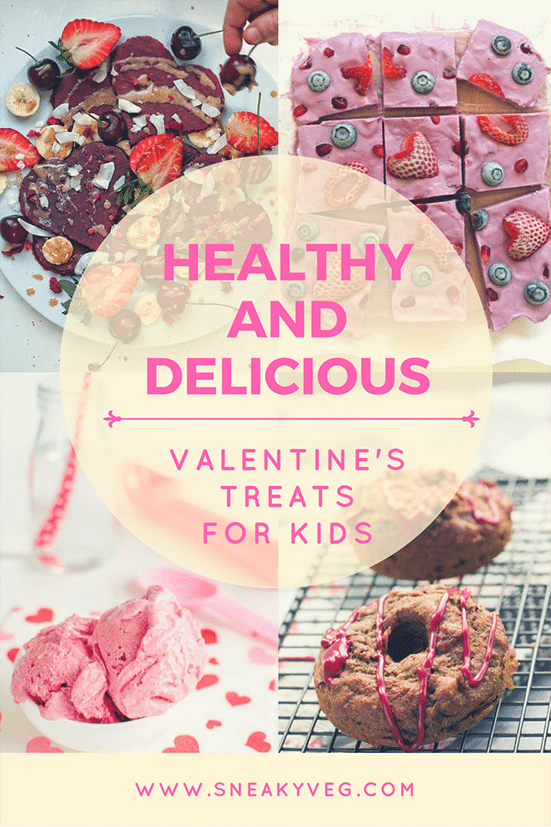 Healthy Valentine's Treats for kids recipe round up
