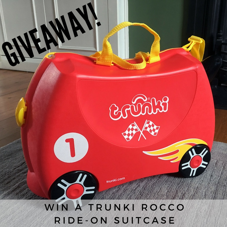 Trunki Rocco suitcase review and giveaway