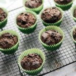 Healthy chocolate muffins with sneaky kale