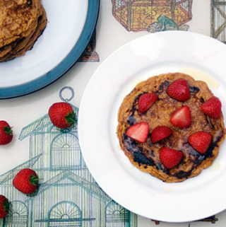 sweet potato pancakes with spelt flour by Sneaky veg