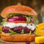 Beetroot and aduki bean burgers by Demuths (Picture: Eat Pictures)