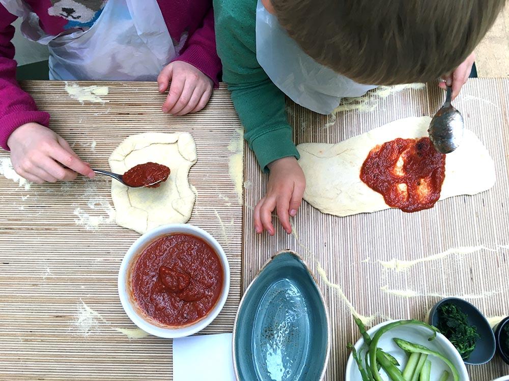 Making pizzas at Ask Italian