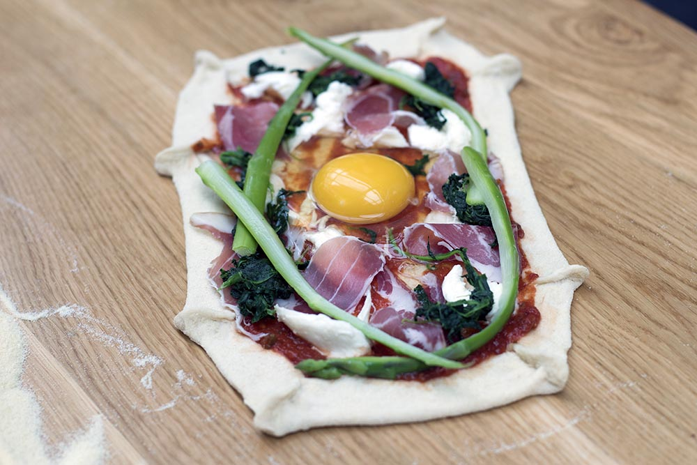 ask italian mother's day prima pizza light coppa ham and egg