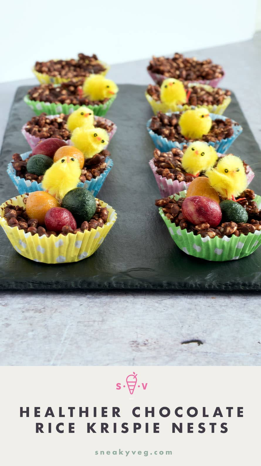 healthier chocolate rice krispie nests