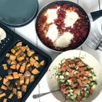 shakshuka, israeli salad, sweet potatoes, pitta bread and 10 healthy breakfast ideas for kids