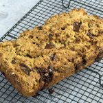 sweet potato banana bread with chocolate chips