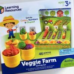 Review and giveaway of Veggie Farm Sorting Set – a great counting toy for toddlers