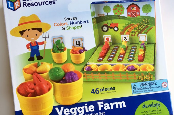 Veggie Farm sorting set by Learning resources - a great counting toy for toddlers