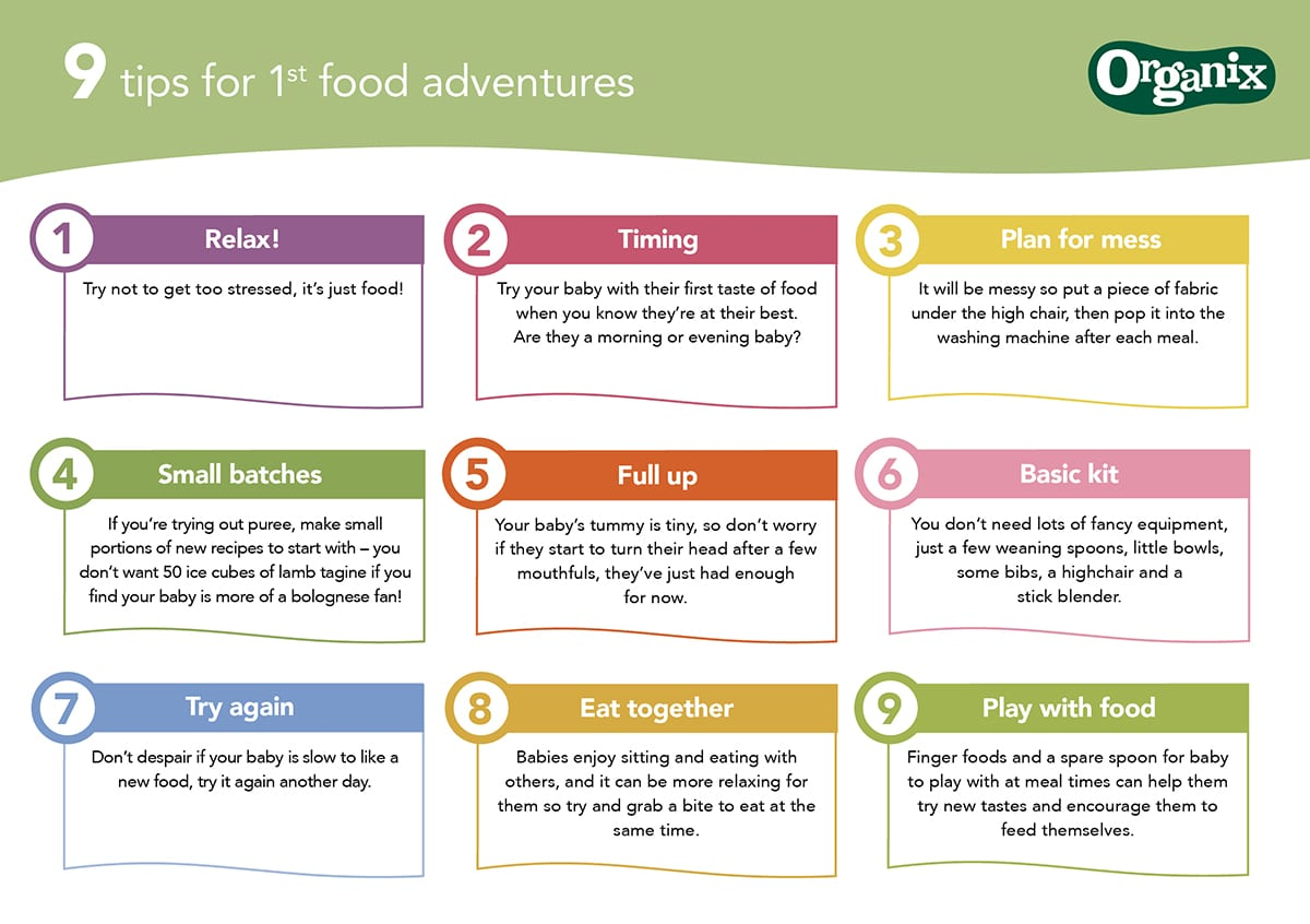 NINE TIPS for first food adventures from Organix