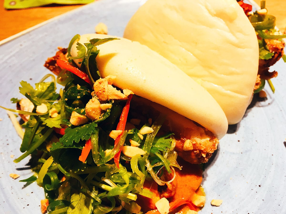 Giraffe restaurant London gua bao buns