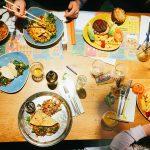Giraffe restaurant London family eating meal