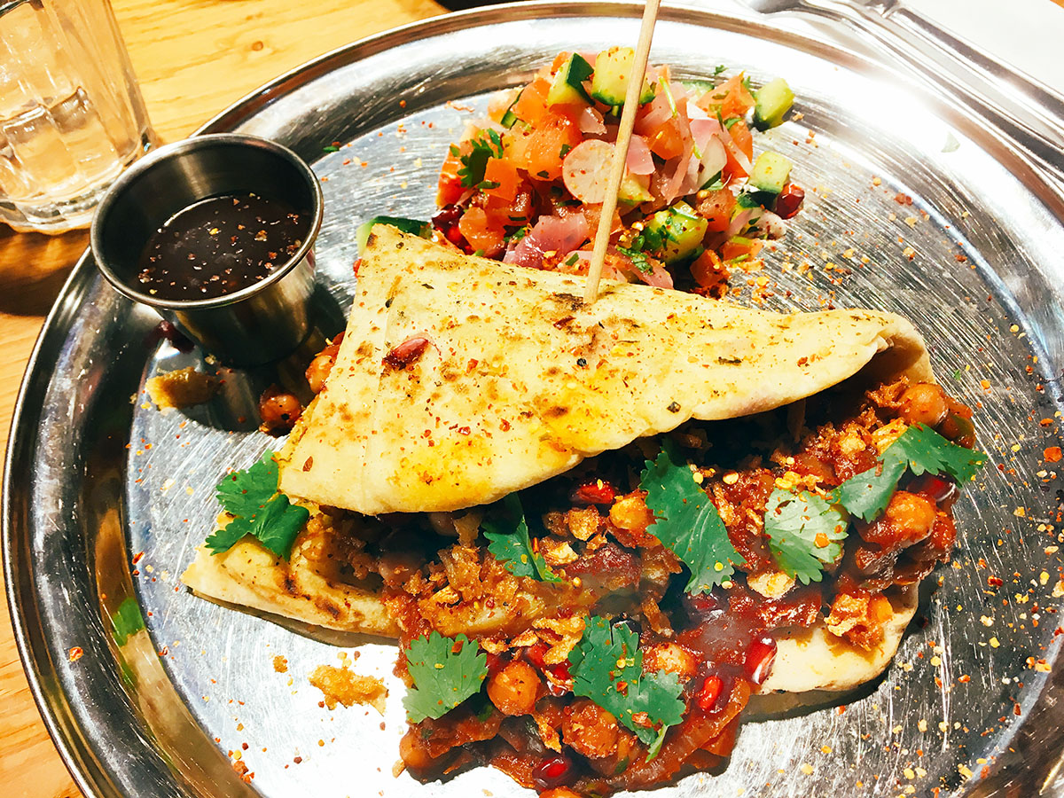 Giraffe restaurant London vegetarian kati roll