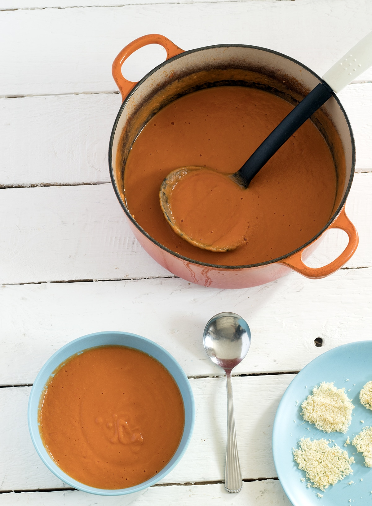 tomato and red lentil soup by My Fussy Eater