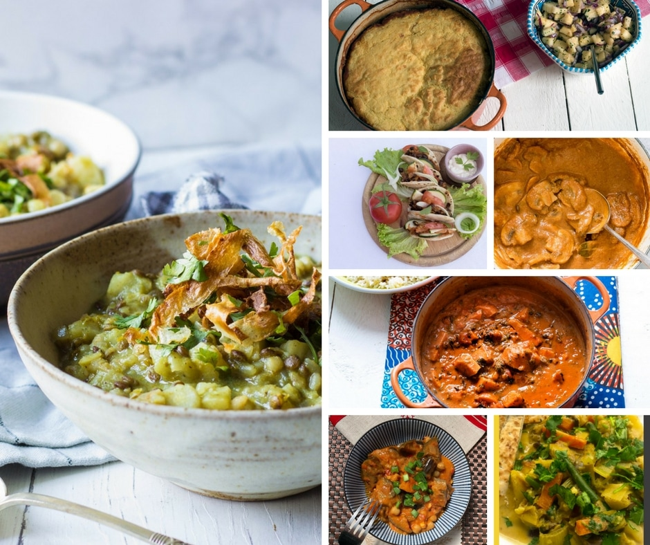 vegetarian stews, curries and chillis