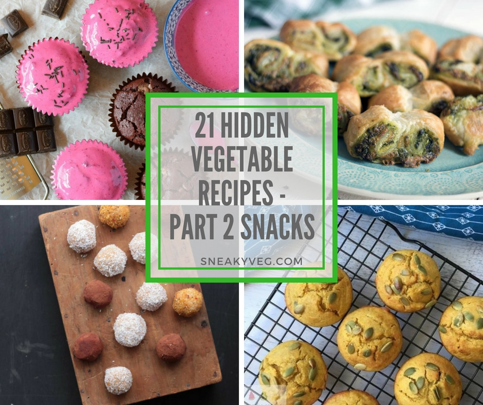 21 hidden veggie recipes - snacks