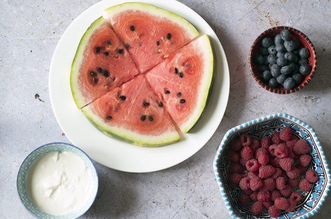 DIY watermelon pizza recipe