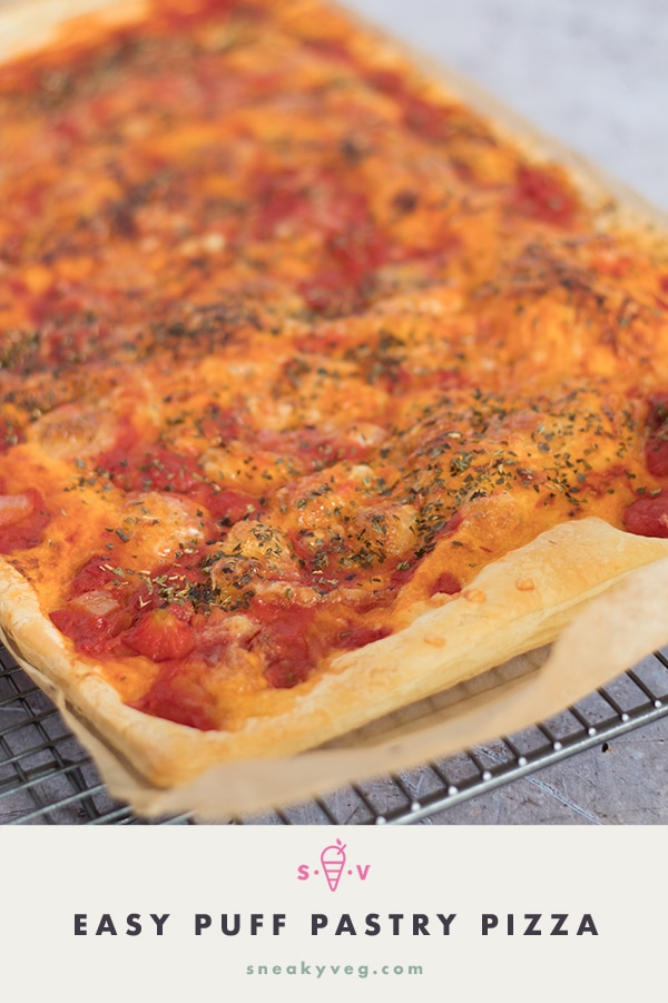 easy puff pastry pizza recipe by Sneaky Veg