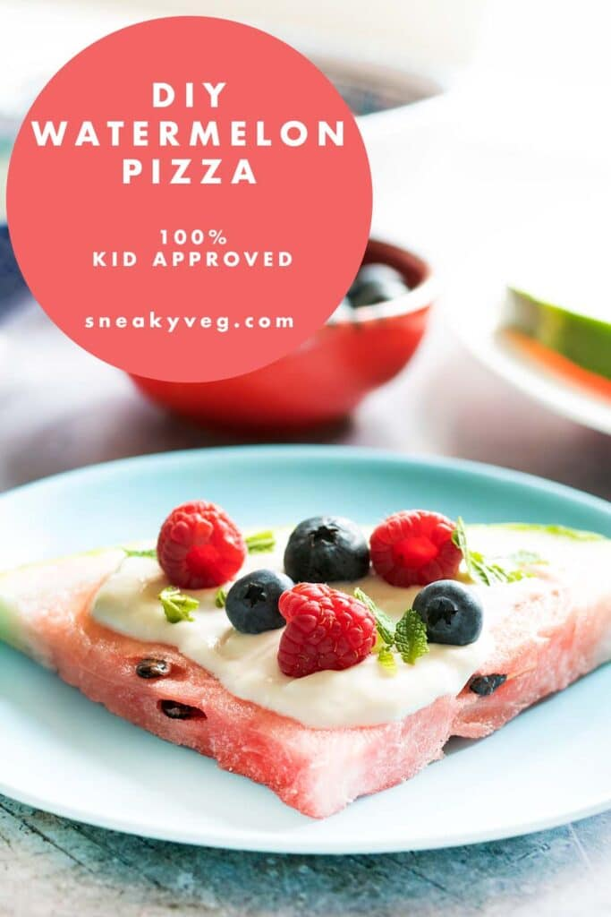 watermelon pizza with yoghurt and berries