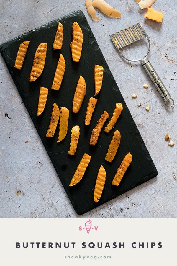 crinkle cut butternut squash chips