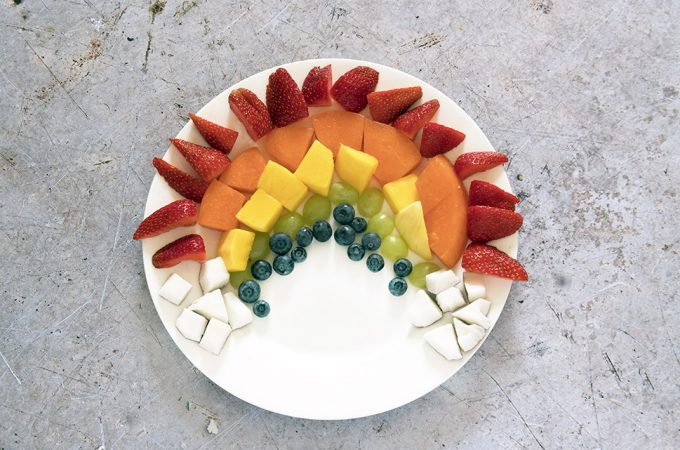 rainbow fruit salad by Sneaky Veg