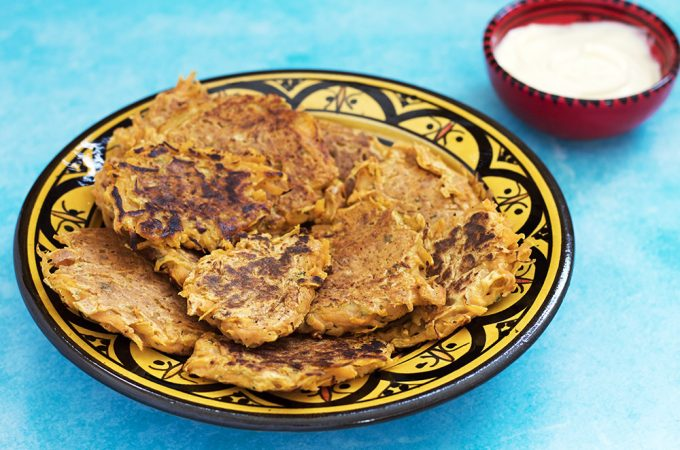 sweet potato fritters vegan by sneaky veg