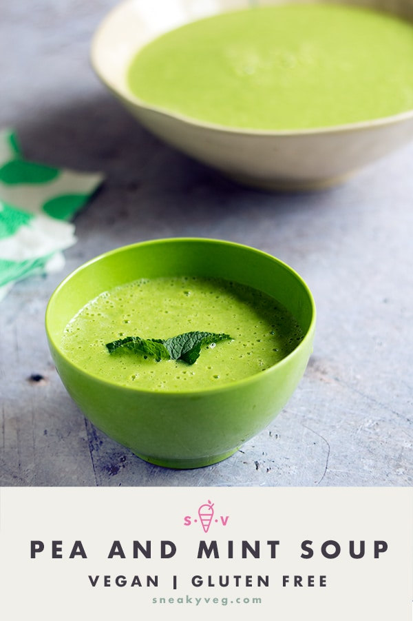pea and mint soup by Sneaky Veg
