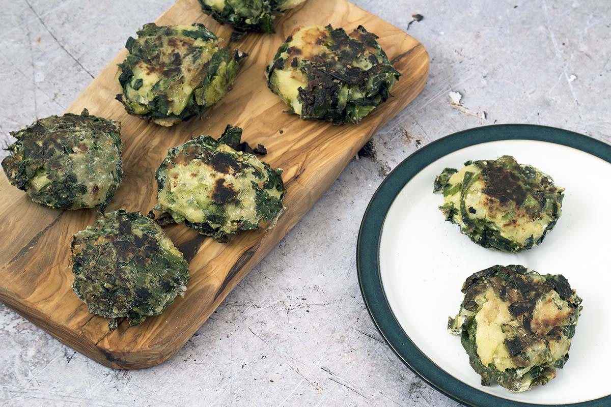 bubble and squeak cakes recipe by Sneaky Veg